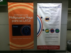 BEEP Cards Posters at LRT Katipunan, 25 May 2015